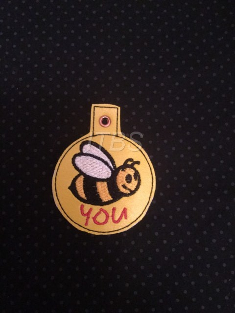 Bee you key fob and charm
