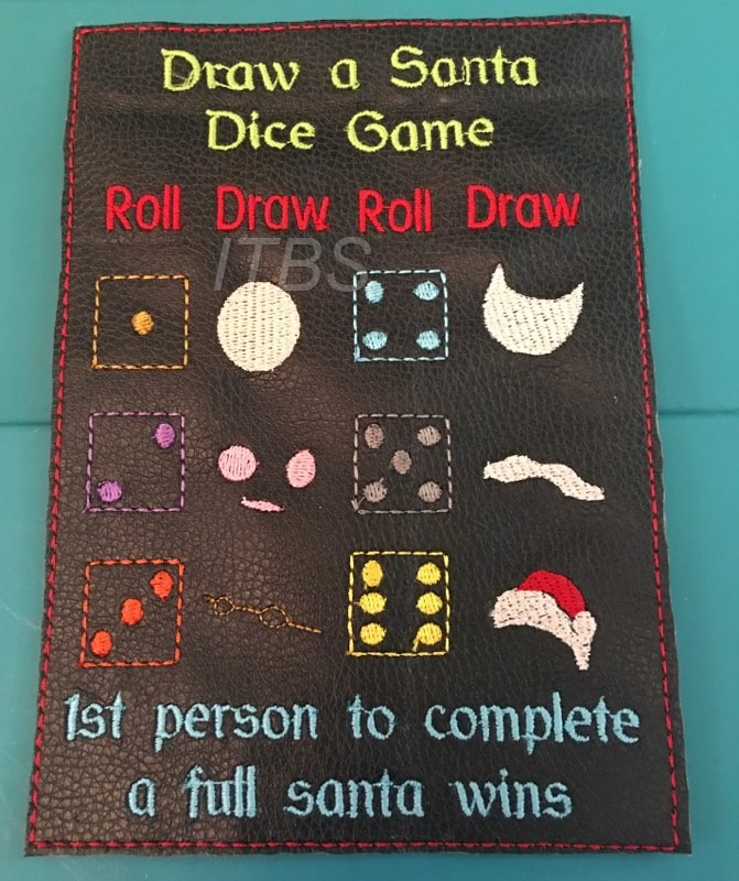 Draw/Build a santa dice game 4x4 and 5x7
