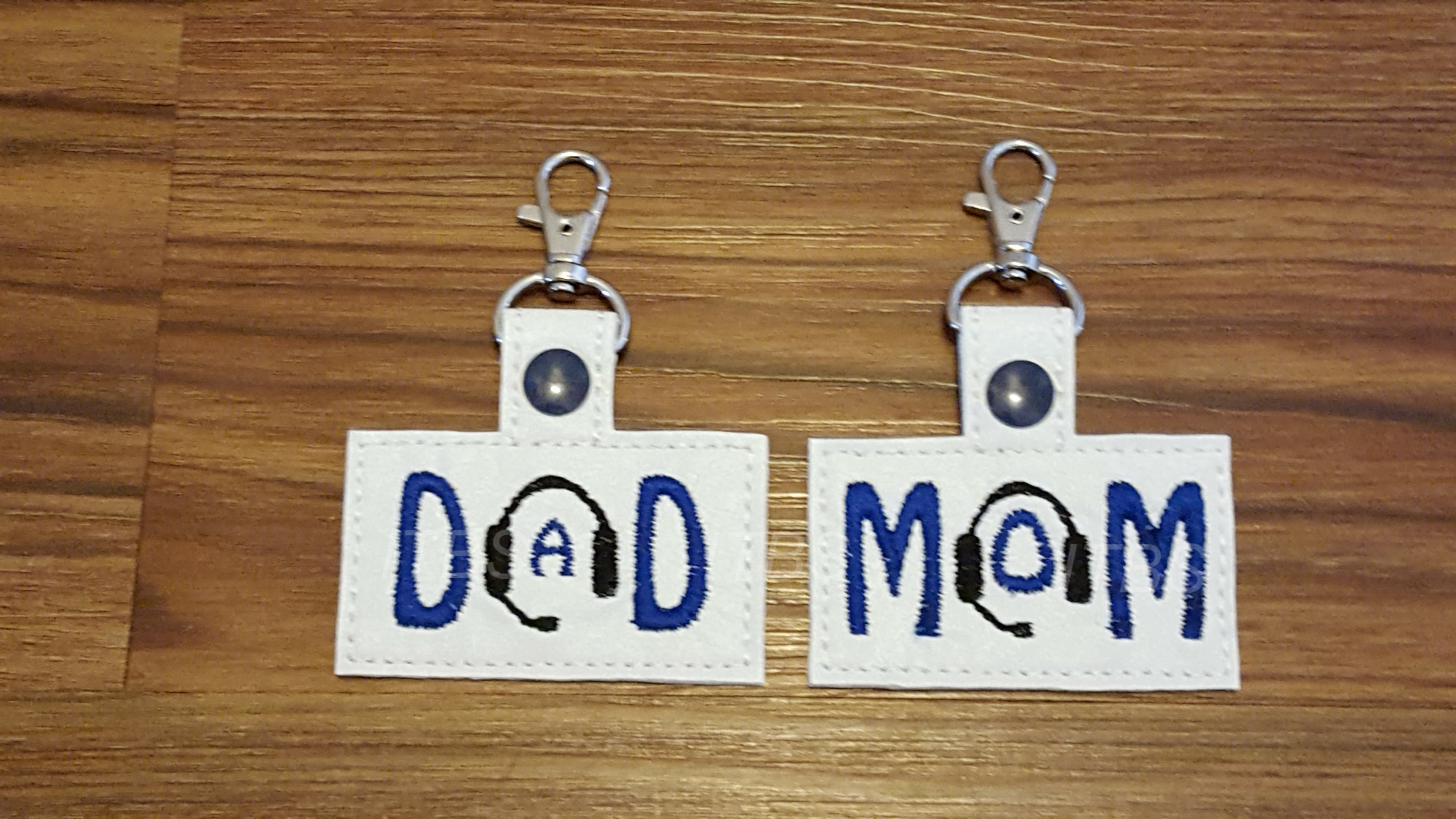 Dispatcher mom and dad key fobs