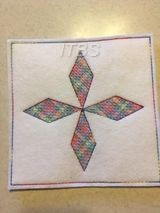 DiamondInTheSky 6x6 quilt block regular desing 2021 challenge