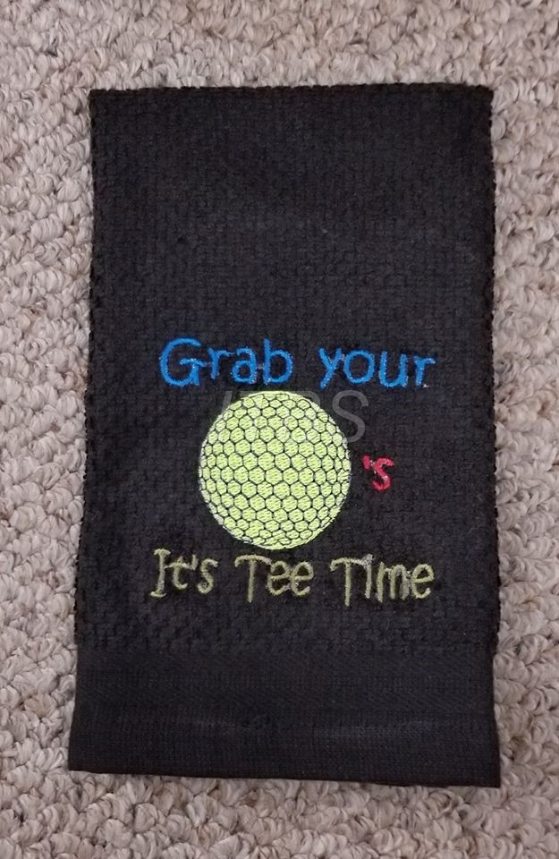 Grab your golf Balls It's Tee Time regular design 4x4 and 5x7