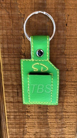 SD Card holder key fob and charm