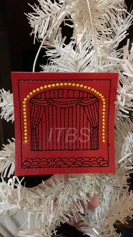 Stage, theater, play, show ornament 4x4