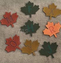 Maple leaf knockdown font 4x4 four zip files 2 formats per file