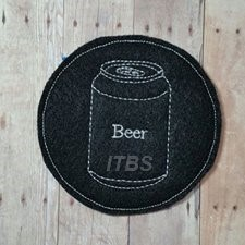 Beer can cup coaster