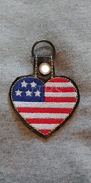 Blank USA Flag key fob 4x4