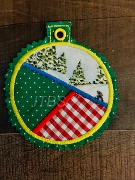 3 inch applique ornament