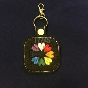 8 heart filled key fob 4x4