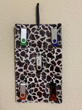9 USB wall hanging storage case 6x10
