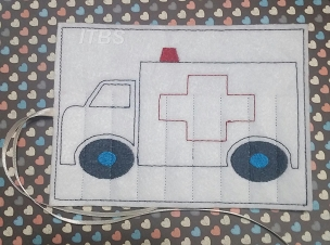 Ambulance crayon buddy 4x4 and 5x7