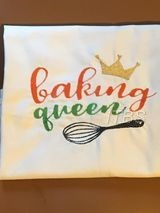 Baking Queen with whisk and crown regular design 4x4 and 5x7