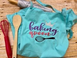 Baking Queen with whisk and crown regular design 6x8