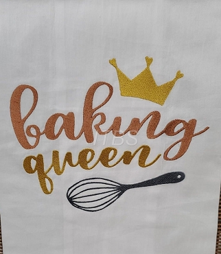 Baking Queen with whisk and crown regular design 8x10