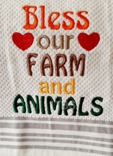 Bless our farm and animals 4x4, 5x6 and 6x7 regular design