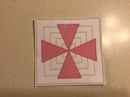 6x6  Boxed star quilt/craft 2021 challenge Block 2