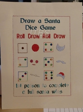 Draw/Build a santa dice game 6x9