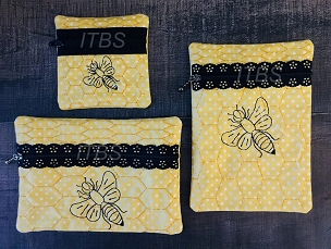Busy Bee exposed zipper bags 4x4 and 5x7