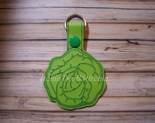 Cabbage key fob vegetable 4x4