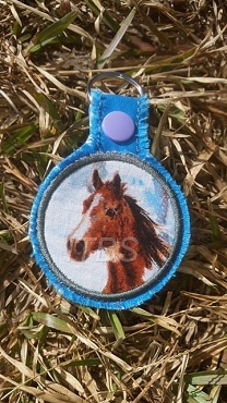Circle applique key fob
