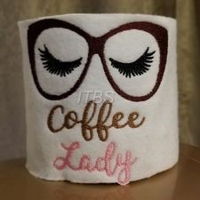 Coffee lady glasses 4x4 regular design