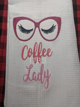 Coffee lady glasses 5x7 regular design