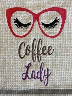 Coffee lady glasses 6x8 regular design