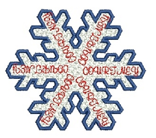 Courtney free standing lace snowflake 4x4