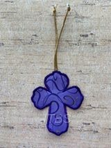 Cross outline triple stitch and applique bookmark 4x4