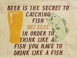 Drink beer like a fish to think like a fish 8x10 regular design