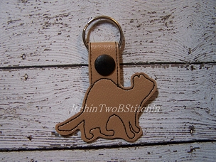 Ferret outline key fob