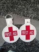 First Aid key fob and charm 4x4