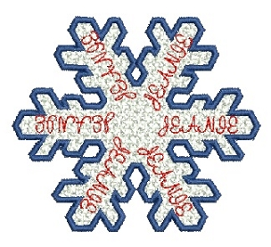 Jeanie free standing lace snowflake 4x4