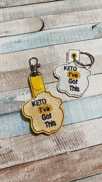Keto I've got this egg key fob and charm 4x4