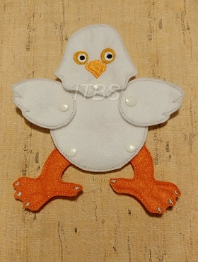 Moveable character chicken