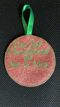 Our 1st year as Mr and Mrs ornament