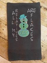 Mylar applique All My Relatives Are Flakes snowman 6x8 regular design