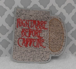Nightmare before caffeine 4x4 and 5x5 cup cpasters