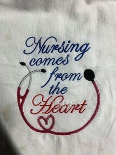 Nursing comes from the heart 4x4 and 5x6 regular design