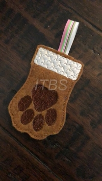 Paw stocking ornament