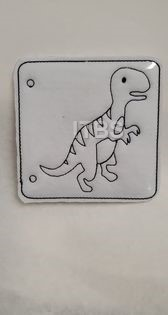 T rex coloring pages 4x4 5x7