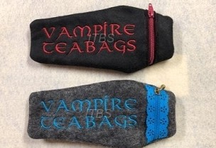 5x7 Coffin Vampire teabags zipper bag